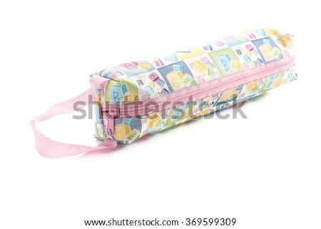 zip bag on white background - stock photo