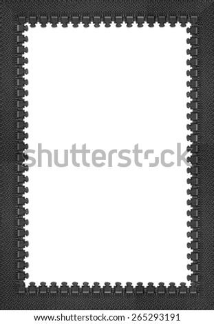 Zip frame - stock photo