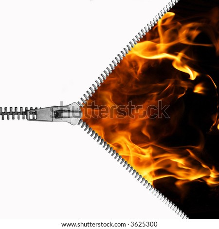 zip the fire - stock photo