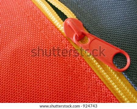 zipper macro - stock photo