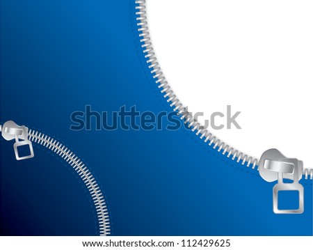 Zipper open and closed - stock photo