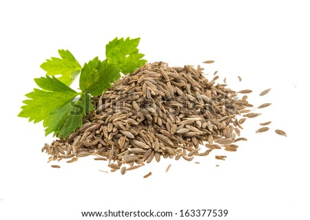 Zira seeds isolated - stock photo