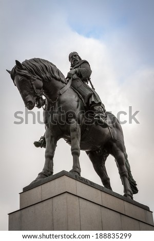 Zizkov Monument in Prague  - stock photo