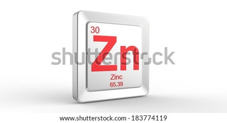 Zn symbol 30 material for Zinc chemical element of the periodic table  - stock photo