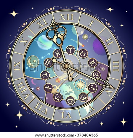 Zodiac circle in space