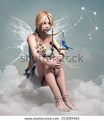 Zodiac series - Libra - stock photo