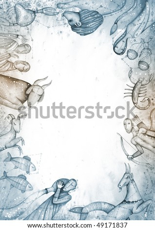 zodiac sign - stock photo