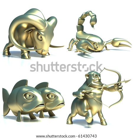 Zodiac signs - part 3 of 3 - stock photo