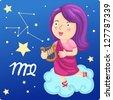 Zodiac signs -Virgo Illustration.jpg (EPS vector version id 126787709,format also available in my portfolio) - stock photo
