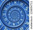Zodiac spiral - stock vector