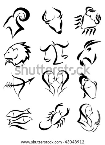 Zodiac star sign(jpeg)in the gallery also available vector version of this image - stock photo