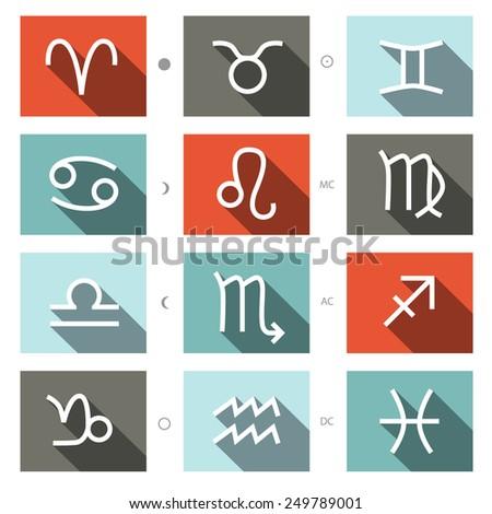 Zodiac Symbols Set - stock photo