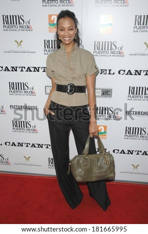 Zoe Saldana at EL CANTANTE Premiere, DGA Director's Guild of America Theatre, Los Angeles, CA, July 31, 2007