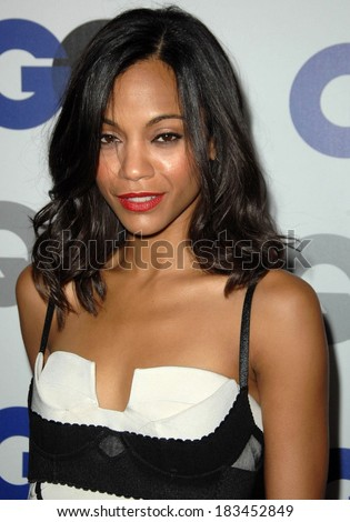 Zoe Saldana at Gentleman's Quarterly GQ Men of the Year Event, Chateau Marmont, Los Angeles, CA November 18, 2009 - stock photo