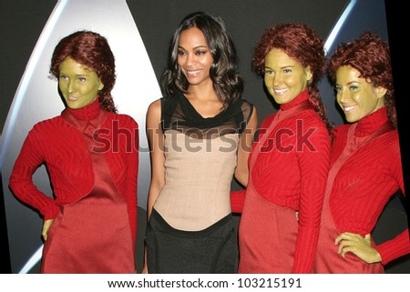 "Zoe Saldana at the ""Star Trek"" DVD And Blu-Ray Release Party, Griffith Observatory, Los Angeles, CA. 11-15-09 - stock photo"
