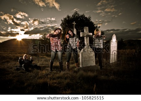 Zombie awakening - stock photo