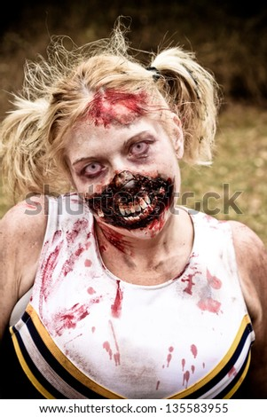 Zombie Cheerleader - stock photo