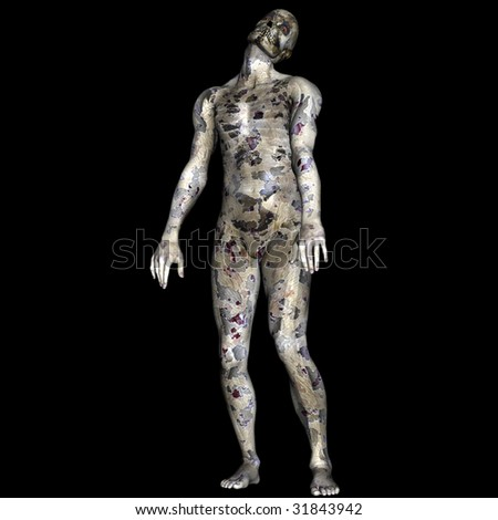 Zombie Dude - stock photo