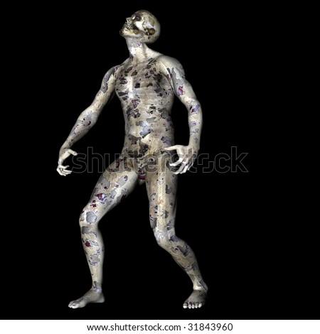 Zombie Dude - stock photo