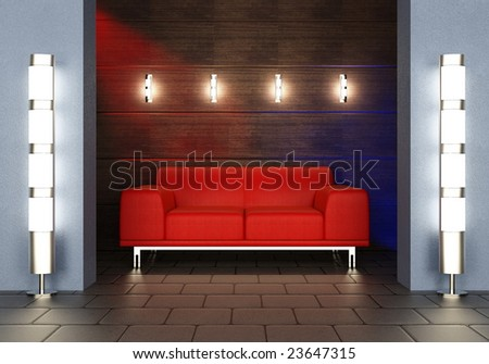 Zone of rest with a sofa - stock photo