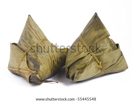 Zongzi - Traditional Dragon Boat Festival dumpling - stock photo