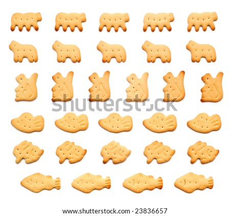 Zoo crackers, scroll ornaments - stock photo