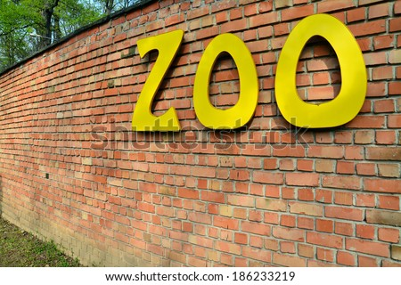 zoo sign   - stock photo