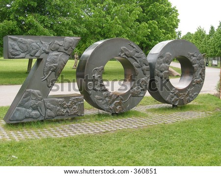 Zoo sign - stock photo