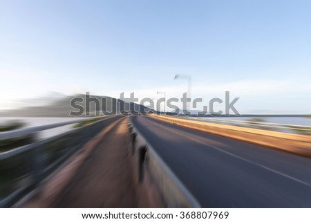 Zoom burr road for background high speed motion. - stock photo