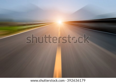 Zoom burr road for background high speed motion  - stock photo
