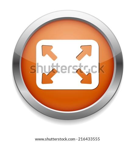 zoom button - stock photo
