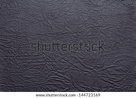 Zoom in of the black leather texture - stock photo
