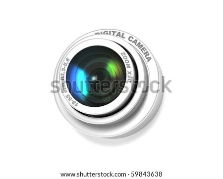 zoom lens - stock photo