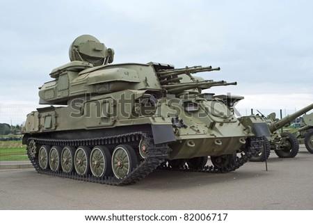 ZSU-23-4 Shilka anti-air weapon system - stock photo