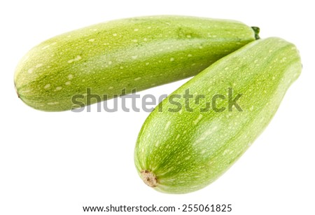 zucchini on a white background - stock photo