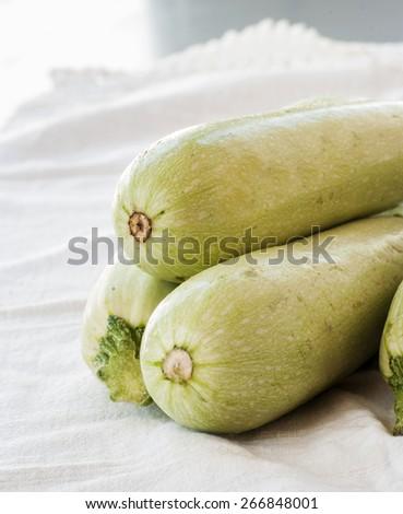 zucchini  on white background - stock photo