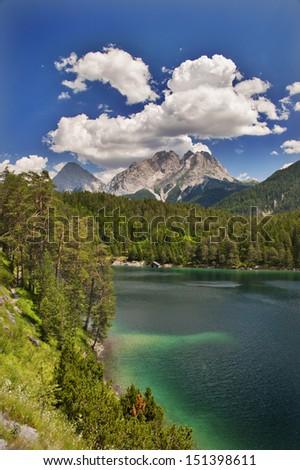 Zugspitze Blick - stock photo
