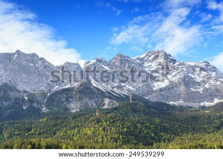Zugspitze mountain the top of Germany - stock photo