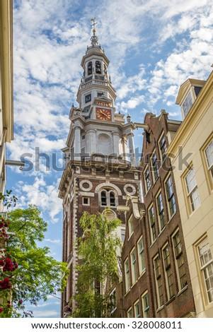 Zuiderkerk downtown Amsterdam - stock photo