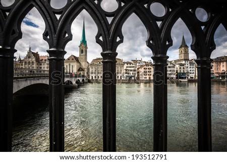 Zurich cityscape - stock photo