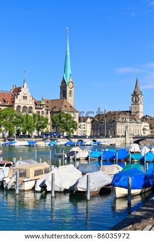 Zurich Cityscape, Switzerland - stock photo