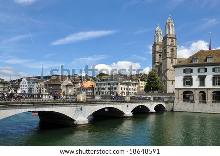 Zurich downtown - stock photo