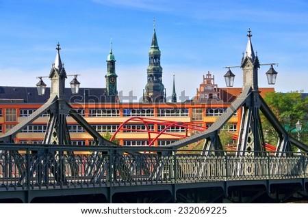 Zwickau bridge of paradise  - stock photo