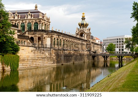 Zwinger museum - famous monument  in Dresden - Germany