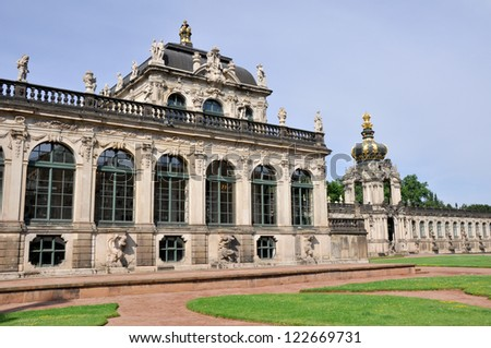 Zwinger palace, Dresden (Germany) - stock photo