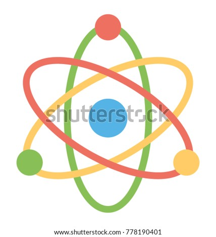 Flat style icon atom structure science stock vector 778190401 a flat style icon of atom structure science sign ccuart Images