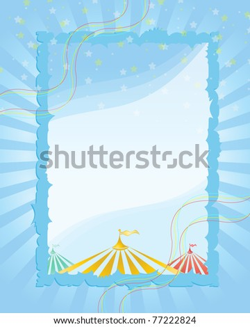 A retro circus. Blue  background for a poster - stock vector