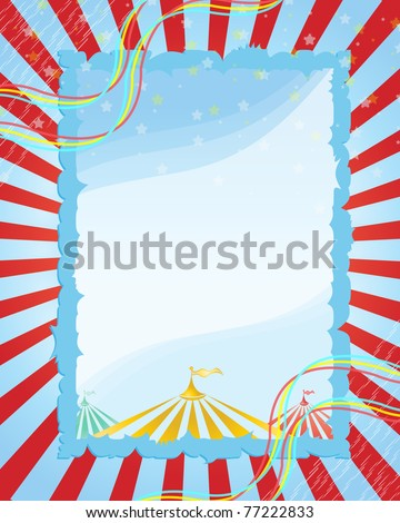 A retro circus. red  background for a poster - stock vector