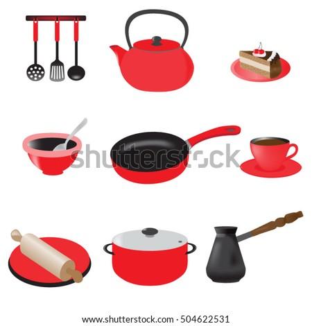 Merveilleux A Set Of Kitchen Utensils, Clip Art