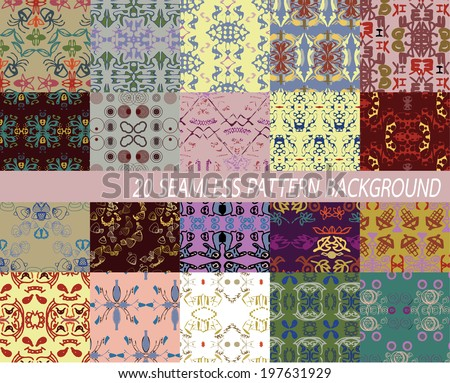 20 abstract artistic seamless pattern background